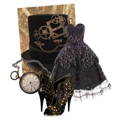 """""""steampunk"""" by elisabetta-negro on Polyvore featuring INC International Concepts, Hell Bunny and Roberto Cavalli"""