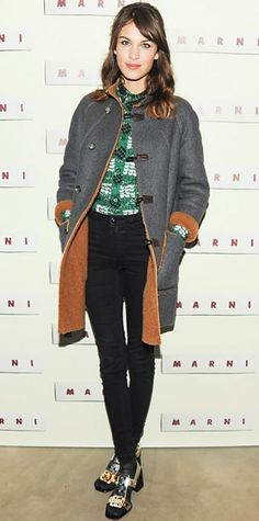FEBRUARY 10, 2013 Alexa Chung Editor's choice WHAT SHE WORE Alexa Chung entertained the crowd at Marni's fragrance launch in the label's cool separates. WHY WE LOVE IT There's a lot going on-in a good way! The stylish star mixed and matched like a pro in her chic ensemble