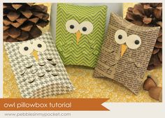 Pebbles In My Pocket Blog: owl box tutorial