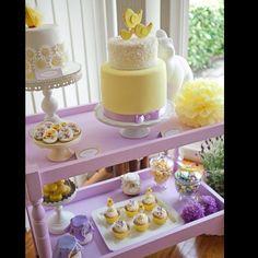 Lemon & Lavender baby shower cake via Pink Frosting