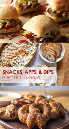 Football season is synonymous with cheesy dips, wings, and savory snack mixes. Make sure you keep party guests happy and satisfied with these delectable dip recipes, apps, and snacks.
