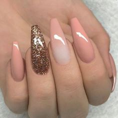 """If you're unfamiliar with nail trends and you hear the words """"coffin nails,"""" what comes to mind? It's not nails with coffins drawn on them. Although, that would be a cute look for Halloween. It's long nails with a square tip, and the look has. Cute Summer Nail Designs, Cute Summer Nails, Cute Nails, Pretty Nails, My Nails, Spring Nails, Faded Nails, Prom Nails, Coffin Nails Long"""