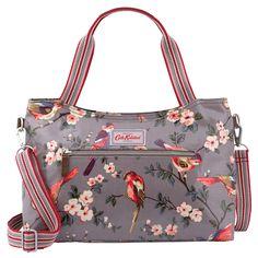British Birds Zipped Handbag with Detachable Strap | Handbags | CathKidston