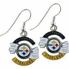 EARRING STEELER EST 1933 J HOOK by Gift House. $5.98. Wear these earrings on game day or any day, to accessorise and show your support for the Pittsburgh Steelers!