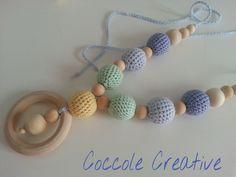 nursing necklace - collana d'allattamento pastello di CoccoleCreative su Etsy