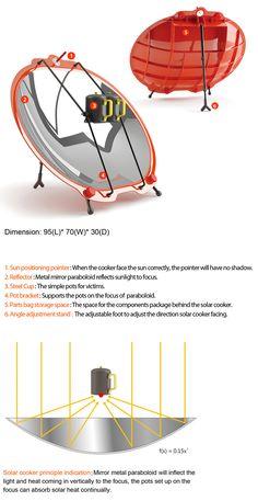 Emergency Solar Cooking | Yanko Design