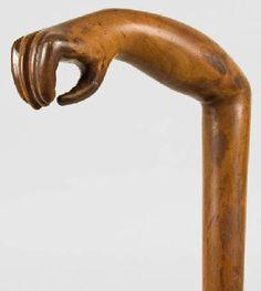 Folk art cane at www.american clothdoll.com