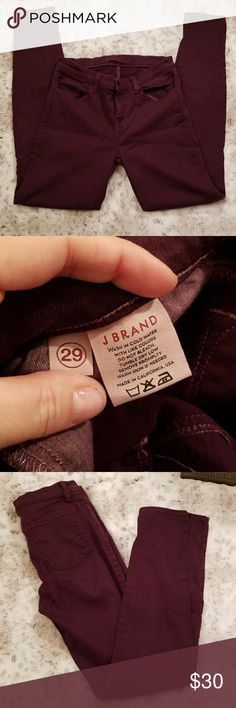 ❤ J Brand jeans J Brand  Burgundy in color Comfortable and stretch J Brand Jeans Skinny