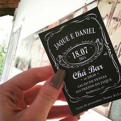 Convite Digital - Chá Bar - Convite - Convite Jack Daniels