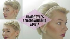 Check out this video for three simple styles that can transform your growing pixie from awkward to effortless in minutes.
