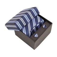 Men's luxury gift-boxes with matching tie, handkerchief and cuff-links. Superb quality men's accessories. A formal evening set ,ideal for a wedding or smart office-wear. Luxurious woven fabric. 100% Silk. Available in a variety of colours/patterns. Cool... more details available at https://perfect-gifts.bestselleroutlets.com/gifts-for-men/product-review-for-mens-luxury-gift-boxes-with-matching-silk-tie-handkerchief-and-cufflinks/
