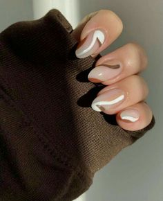 Simple Acrylic Nails, Best Acrylic Nails, Acrylic Nail Designs, Brown Nail Designs, Simple Nail Designs, Acrylic Art, Funky Nail Designs, Natural Nail Designs, Almond Nails Designs