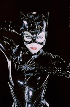 """I am Catwoman, hear me ROAR!"" Michelle Pfeiffer's turn as the feline fatale."