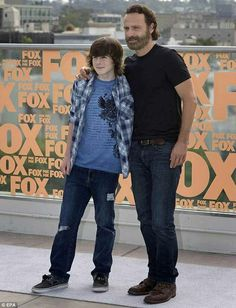 Chandler Riggs and Andrew Lincoln at San Diego Comic Con 2014