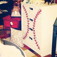 Four Drawer Baseball Dresser on Etsy, $299.00