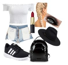 A fashion look from January 2018 featuring off the shoulder shirts, jean shorts and lace up shoes. Browse and shop related looks. Kendall, Kylie, Polyvore Fashion, Adidas, Shoe Bag, Clothing, Stuff To Buy, Shopping, Collection