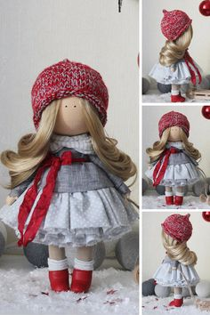 Fabric doll STOCK Tilda doll Textile doll by AnnKirillartPlace