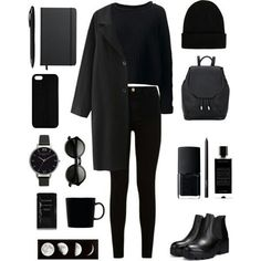 Find images and videos about style, black and outfit on We Heart It - the app to get lost in what you love. Kpop Fashion Outfits, Grunge Outfits, Chic Outfits, Fall Outfits, Mode Grunge, Grunge Style, Look Fashion, Korean Fashion, Fashion Black
