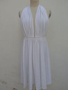 VINTAGE ABITO AUTENTICO 1970s donna bianco di VintageClothingIT