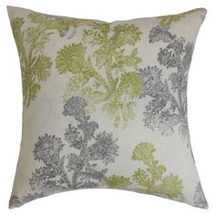 Reversible linen throw pillow. Made in the USA.  Product: PillowConstruction Material: Cotton and 95/5 down fill...