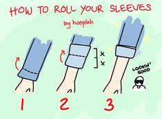 how to fold sleeves up - Szukaj w Google