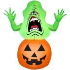 Gemmy 42.13 in. W x 20.47 in. D x 39.37 in. H Inflatable Slimer on Pumpkin-Ghostbusters 71728 at The Home Depot - Mobile