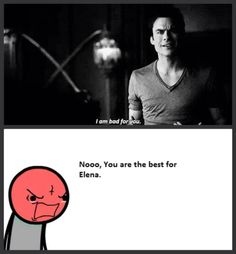 Damon Salvatore(Ian Somerhalder)  It was exactly what I was thinking during that scene!  |The Vampire Diaries|
