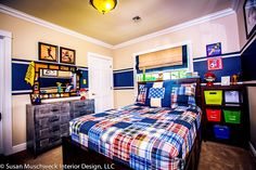 Kids' bedrooms are the perfect spaces for fun, bold, whimsical designs. #WednesdayWisdom #DesignTip #InteriorDesign #BoysBedroom #Inspiration