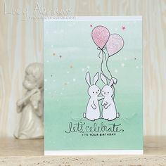 Let's Celebrate by Lucy Abrams using the September 2015 card kit by Simon Says Stamp.