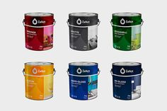 A local company that produces high-quality paints, waterproofing and auto-protection. Paint Companies, Paint Brands, Label Design, Branding Design, Package Design, Waterproof Paint, Pantone Colour Palettes, Paint Buckets, Packaging Design Inspiration