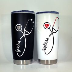 Nurse Stethoscope Travel Cup / Personalized Nurse Gift / Nurse Appreciation / Nurse Tumbler /Stethoscope Yeti / Nurse Yeti Nurse Graduation by on Etsy Nurse Stethoscope, Personalized Stethoscope, Personalized Gifts For Nurses, Personalized Items, Nurse Appreciation Gifts, Nursing School Prerequisites, Diy Tumblers, Doctor Gifts, Tumbler Designs