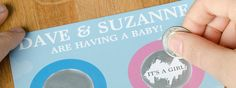 """For this DIY Series, we'll teach you how to use products from our site to add the perfect, personalized touch to a baby shower. First, scratcher postcards for a """"gender reveal"""" baby shower.  Is it a boy or a girl? Turn an ordinary baby shower into an occasion to announce your baby's gender with […]"""