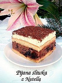 Składniki: - puszka mleka skondensowanego niesłodzonego… na Stylowi.pl Nutella, Hungarian Cake, Polish Recipes, Food Cakes, Trifle, Mini Cakes, Tiramisu, Ricotta, Sweet Dreams