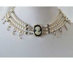 Cameo and Pearl Necklace: Pearl Necklace Online Shopping