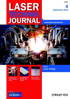 Laser Technik Journal 9_04/2012  Experimental setup with a highly   efficient fiber laser in the laboratory of the Bremen Institute Applied Beam Technology (BIAS): While the clamped gear part is welded with two laser beams, eight sensors are measuring the deformation. The aim of the   research is to minimize the distortion. (Photo: BIAS)  http://www.laser-journal.de