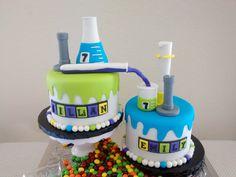 mad science cake chemistry bunsen burner erlenmeyer flask beaker graduated cylinder
