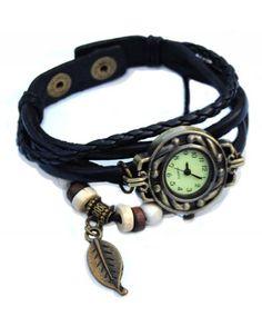 Modern Retro Horloge Armband Zwart http://www.ovstore.nl/nl/huismerk-modern-retro-horloge-armband-zwart.html
