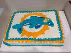 Red velvet Miami Dolphin cake