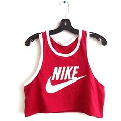Reworked Nike Crop Tank and other apparel, accessories and trends. Browse and shop related looks.