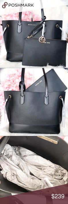 5ecd34206e79 New Michael Kors Trista Drawstring Large Tote New with tag 100% authentic  Features  saffiano