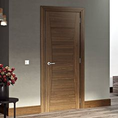 Pamplona Walnut Prefinished Door