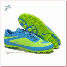 Soccer Shoe Skins Nike HyperVenom Phantom TF ACC Boots Green Blue