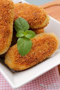 Receita de Bolinhos de Batata Recheados com Carne Moída - Comida de Boteco