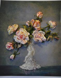 Ribbonwork roses.