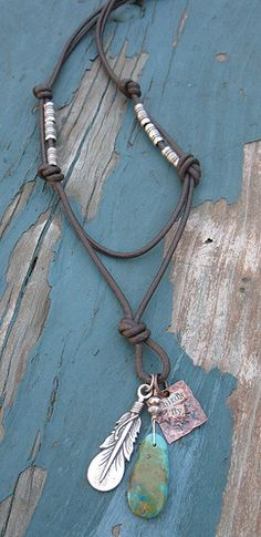 Leather with charms by Debbie / Prairie Emporium, via Flickr