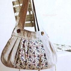 FREE liberty and linen tote/bag pattern and tutorial (in French though)