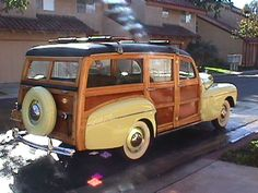 The ultimate surf mobile -- 1946 Ford Super Deluxe. Just call me Gidget.