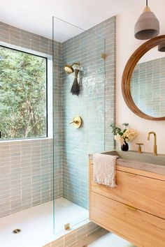 Home Interior Living Room .Home Interior Living Room Bathroom Renos, Wood Bathroom, Master Bathroom, Remodel Bathroom, Natural Bathroom, Tiled Walls In Bathroom, Wall Tiles, Washroom Tiles, Mint Bathroom