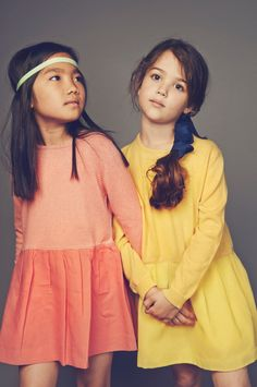 Stylish kids fashion from LEOCA Paris for spring 2015 in gorgeous colours #summer #trend #style S/S 2016