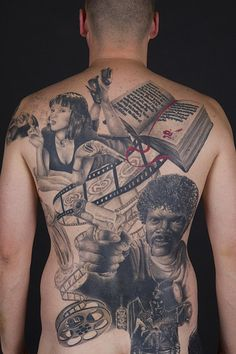 SICK!    Pulp Fiction backpiece.  Studio: Magic Lines Tattoo,Västerås, Sweden